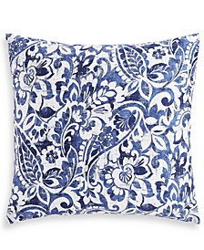 Textured Paisley Cotton 300-Thread Count European Sham, Created for Macy's