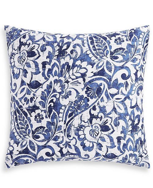 Charter Club Textured Paisley Cotton 300-Thread Count European Sham, Created for Macy's