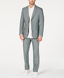 Men's Classic-Fit Tuscan Sage Linen Suit, Created for Macy's