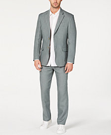 Tasso Elba Men's Classic-Fit Tuscan Sage Linen Suit, Created for Macy's