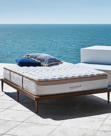 "Saatva Loom & Leaf 12"" Relaxed Firm Mattress Set- Queen"