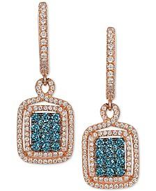 EFFY® Diamond Drop Earrings (3/4 ct. t.w.) in 14k Rose Gold
