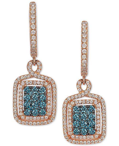 EFFY Collection EFFY® Diamond Drop Earrings (3/4 ct. t.w.) in 14k Rose Gold