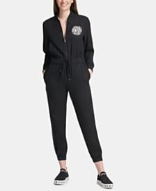 DKNY Zip-Front Jumpsuit