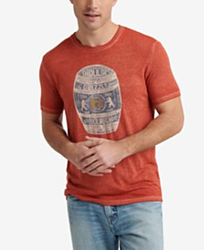 Lucky Brand Men's Ol' Grizzly Bourbon Graphic T-Shirt