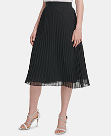 DKNY Pull-On Pleated Skirt