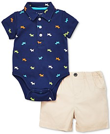 Little Me Baby Boys 2-Pc. Cotton Bodysuit & Shorts Set