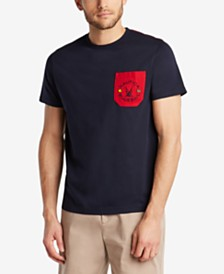 Nautica Men's Blue Sail Logo Graphic Contrast Pocket T-Shirt, Created for Macy's