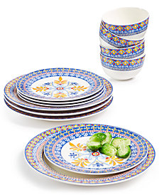 CLOSEOUT! Martha Stewart Collection La Dolce Vita 12-Pc. Dinnerware Set, Service for 4, Created for Macy's