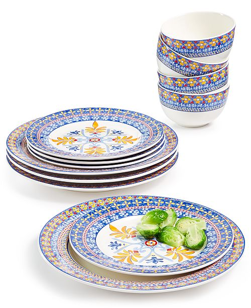 Martha Stewart Collection La Dolce Vita 12-Pc. Dinnerware Set, Service for 4, Created for Macy's