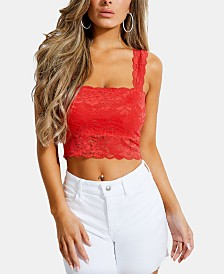 GUESS Denna Lace Crop Top