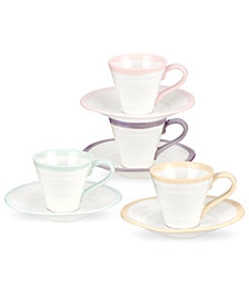 Portmeirion Dinnerware, Set of 4 Sophie Conran Carnivale After Dinner Cups and Saucers