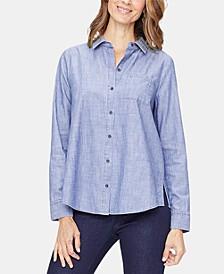Cotton Chambray A-Line City Shirt