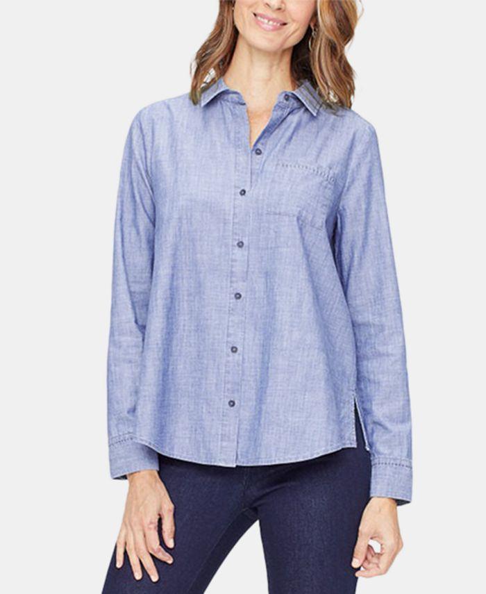 NYDJ - Cotton Chambray A-Line City Shirt