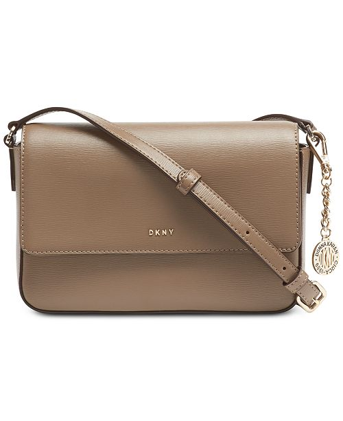 Sutton Leather Bryant Flap Crossbody, Created for Macy's