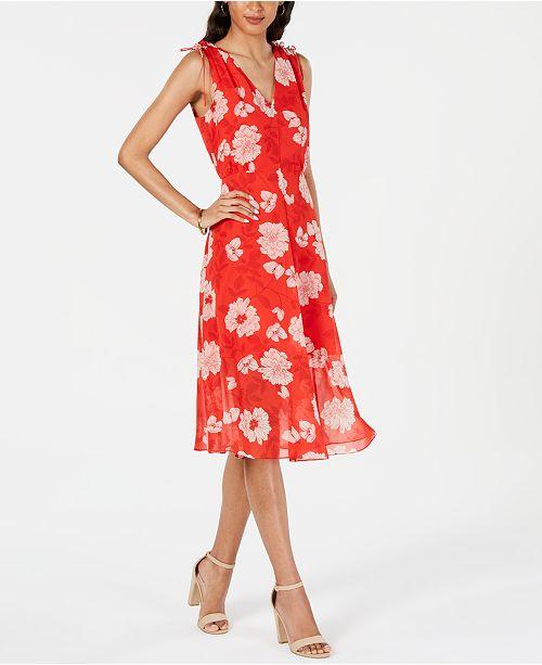 59f3947d Vince Camuto Floral-Print A-Line Dress & Reviews - Dresses - Women ...