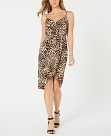 Vince Camuto Animal-Print Cutaway Shift Dress