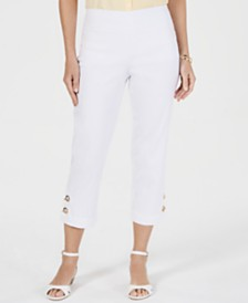 JM Collection Toggle-Trim Pull-On Capris, Created for Macy's