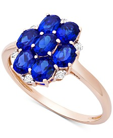 Sapphire (1-3/4 ct .t.w.) & Diamond Accent Statement Ring in 14k Gold