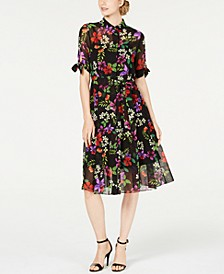 Floral Chiffon Shirtdress