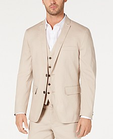 INC Men's Slim-Fit Stretch Linen Blazer, Created for Macy's