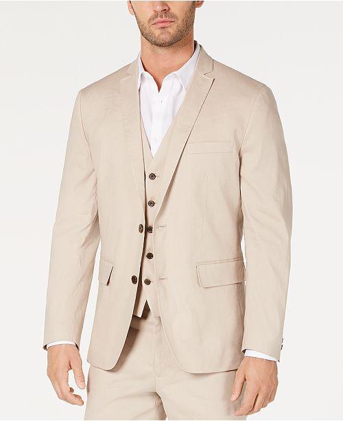 INC International Concepts I.N.C. Men's Slim-Fit Stretch Linen Blazer, Created for Macy's