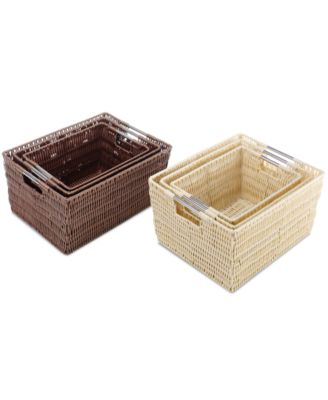 Awesome Whitmor Storage Baskets, Set Of 3 Rattique