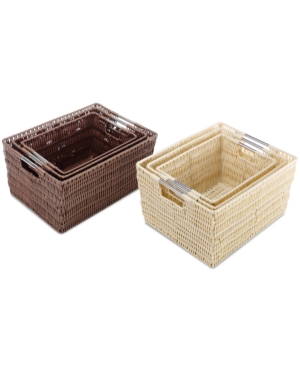 Whitmor Storage Baskets Set of 3 Rattique