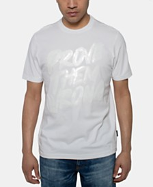 Sean John Men's White Party Prove Them Wrong Sequin Graphic T-Shirt