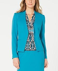 Calvin Klein Asymmetrical Open-Front Jacket