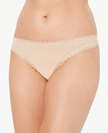 Women's Lace-Trim Thong Underwear QD3705