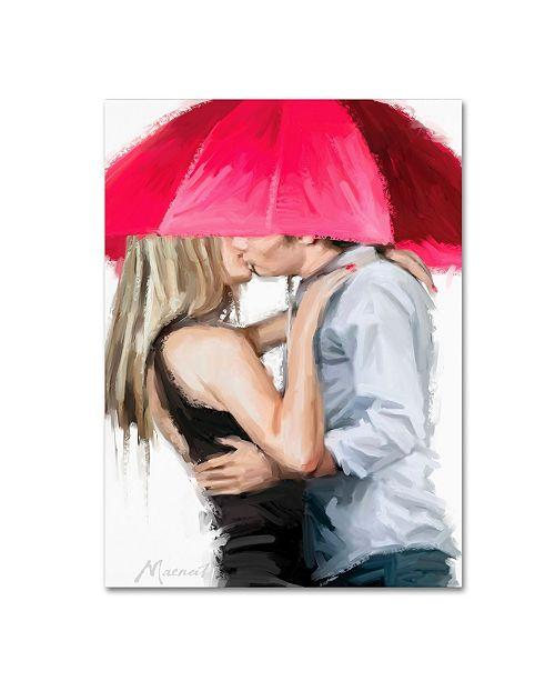 "Trademark Global The Macneil Studio 'Kisses' Canvas Art - 14"" x 19"""