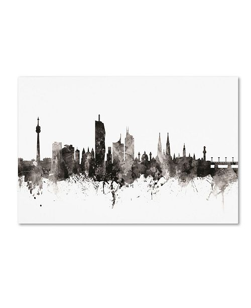 "Trademark Global Michael Tompsett 'Vienna Austria Skyline III' Canvas Art - 12"" x 19"""