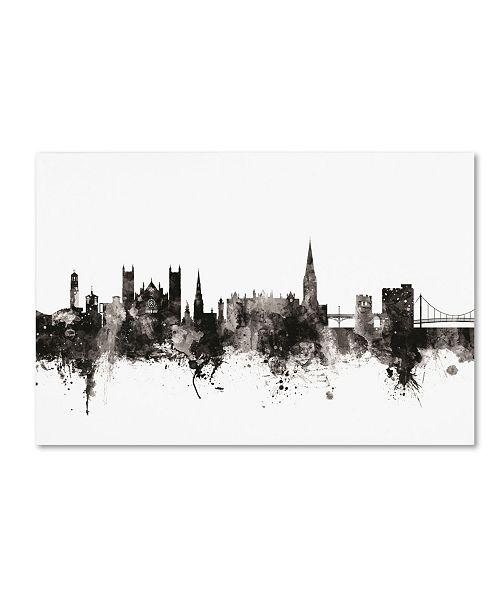 "Trademark Global Michael Tompsett 'Exeter England Skyline III' Canvas Art - 12"" x 19"""