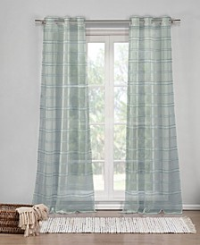 "Hampstead 40"" x 84"" Sheer Stripe Curtain Set"