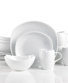 Dinnerware, Classic Fjord White 16 Piece Set, Service for 4