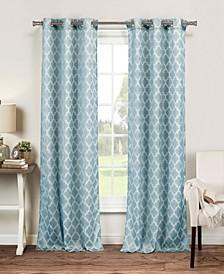 "Longoria 38"" x 84"" Trellis Print Curtain Set"