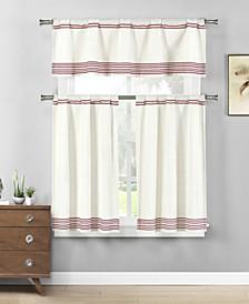 Wilmont 3-Piece Kitchen Curtain Set