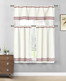 Wilmont 3-Piece Kitchen Curtain Set