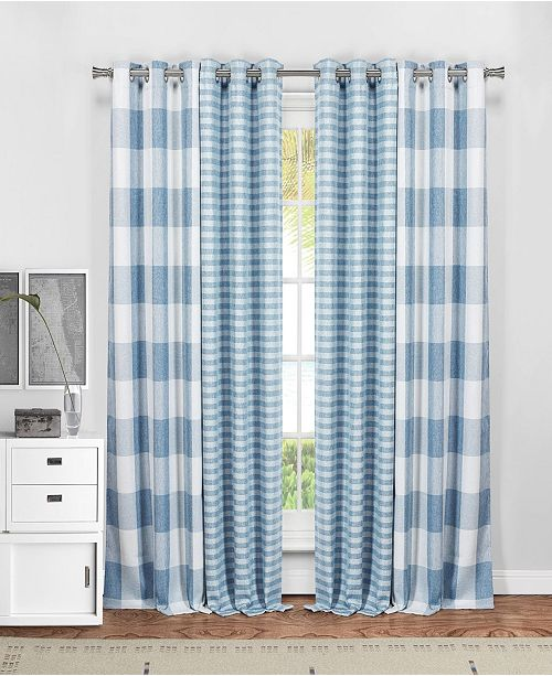 """Duck River Textile Colin 37"""" x 84"""" 4-Piece Blackout Curtain Set"""