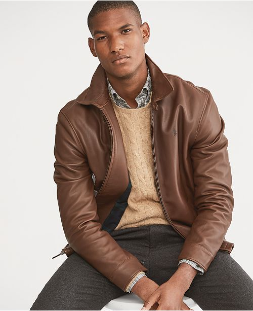 Los Angeles schönes Design schöner Stil Men's Leather Jacket