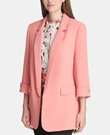 DKNY Long Open-Front Jacket