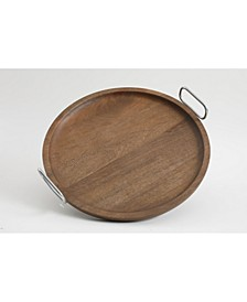 Laurie Gates Wood Tray with Handles