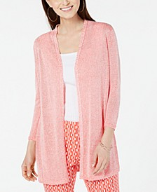 Marled Knit Open-Front Cardigan, Created For Macy's