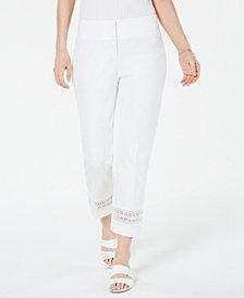 Alfani Eyelet Ankle Pants, Created for Macy's
