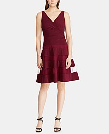 Tulle-Trim Fit & Flare Dress