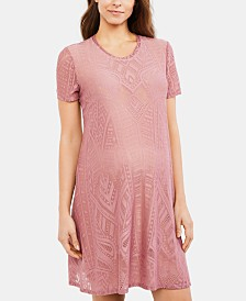 BCBGMAXAZRIA Maternity Textured A-Line Dress