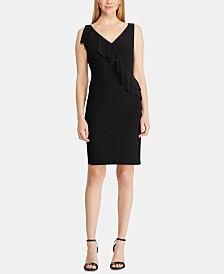 American Living Ruffle-Trim Jersey Dress