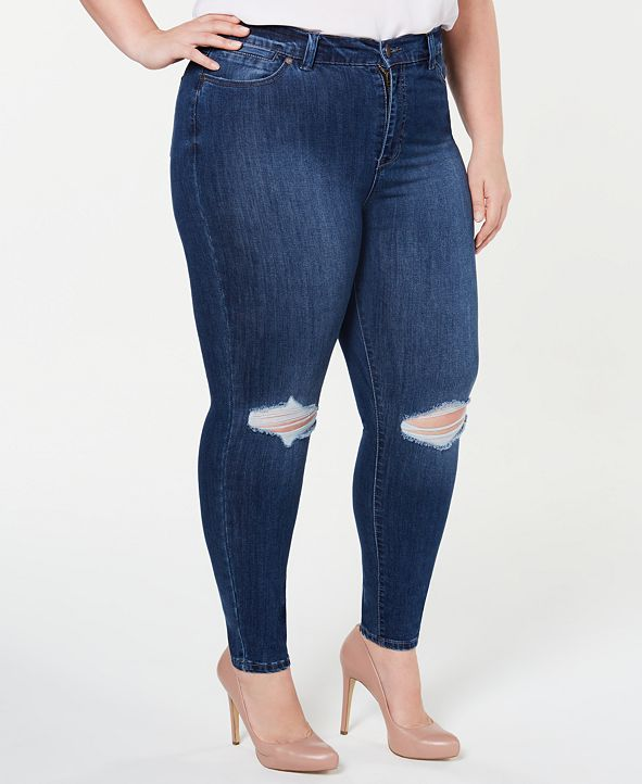 Celebrity Pink Plus Size  High-Rise Distressed Skinny Ankle Jeans