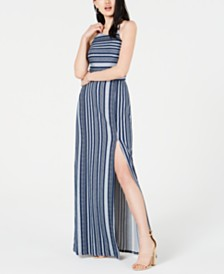 BCX Juniors' Striped Maxi Dress